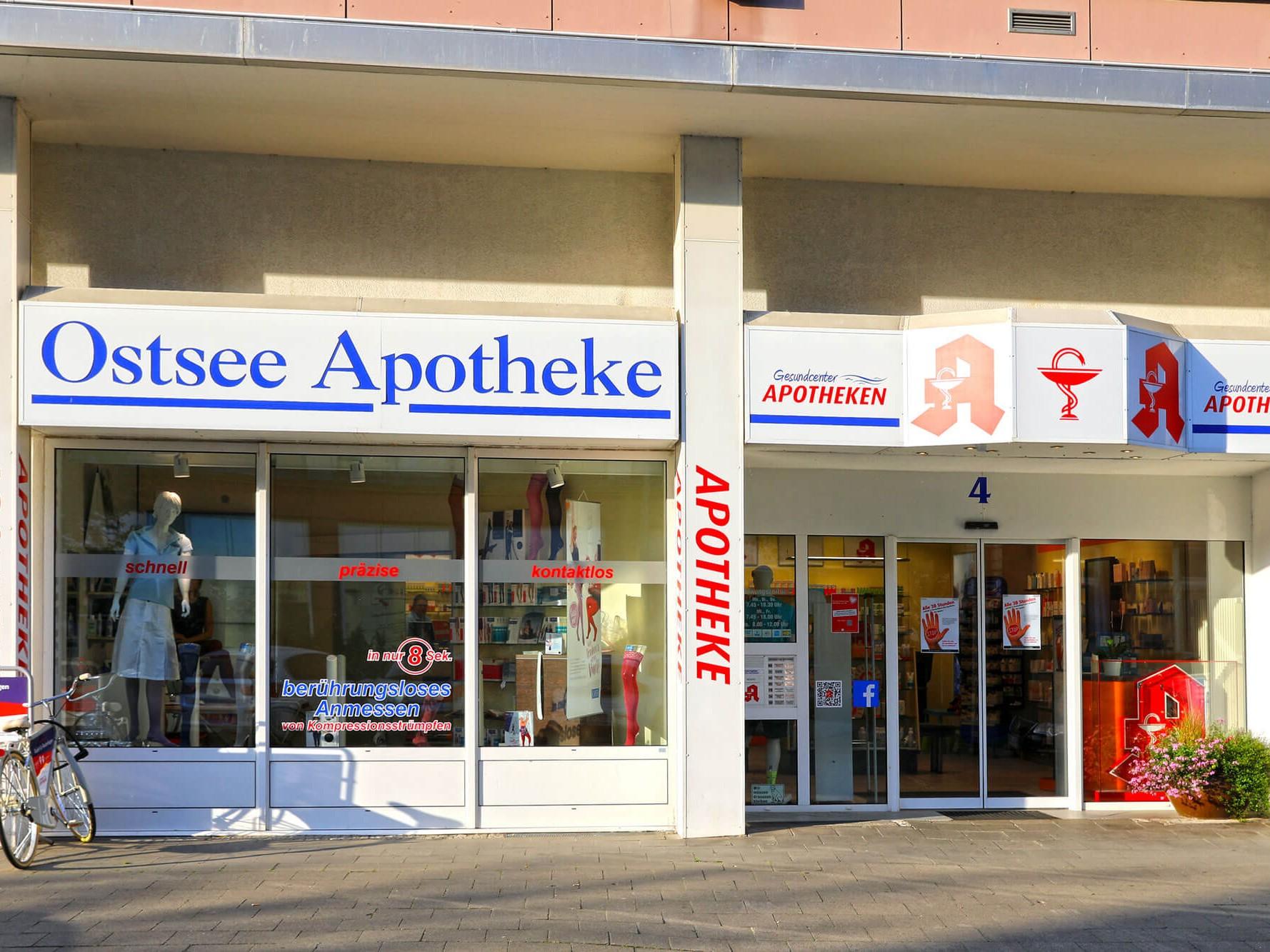 Aussenansicht der Ostsee Apotheke in Rostock Reutershagen