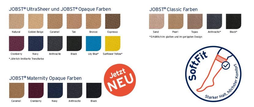 Kniestrümpfe mit JOBST® SoftFit in neuen Farben